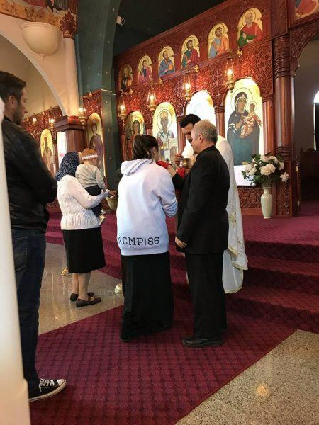 """Божествена литургија во храмот """"Свeти Георгиј и Пресвета Богородица"""" во Епинг, Мелбурн (Викторија)"""