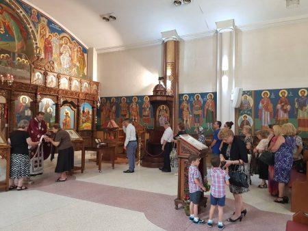 """Света Божествена Литургија во храмот """"Свeта Петка"""" во Рокдејл, Сиднеј (Нов Јужен Велс)"""