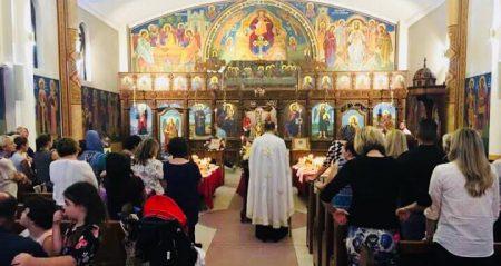 """Мало повечерие и Акатист кон Пресвета Богородица во храмот """"Свeта Петка"""" во Рокдејл, Сиднеј (Нов Јужен Велс)"""