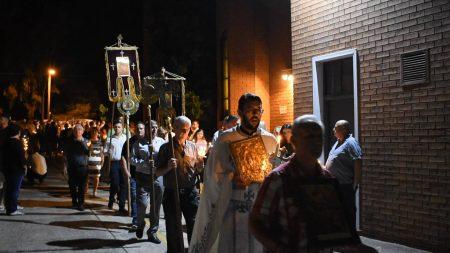 """Воскресение Христово во храмот """"Свети Никола"""" во Кабрамата, Сиднеј (Нов Јужен Велс)"""