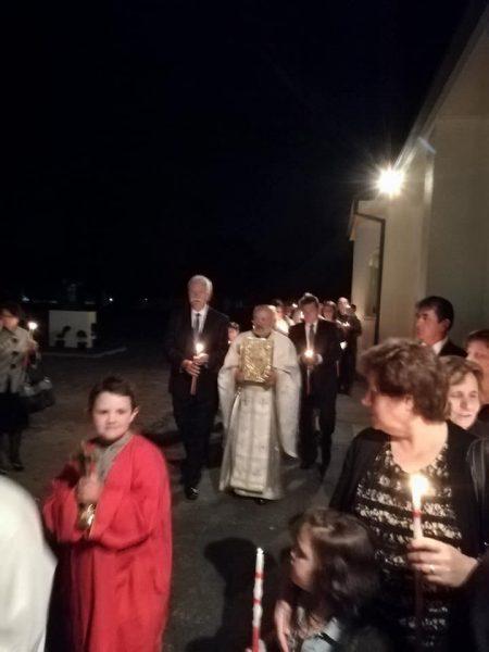 """Воскресение Христово во храмот """"Свети Јован Крстител"""" во Џилонг (Викторија)"""