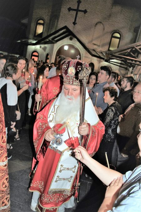 """Света Архиерејска Литургија за Воскресение Христово во храмот """"Света Петка"""" во Рокдејл, Сиднеј (Нов Јужен Велс)"""